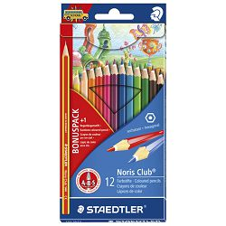 Boje drvene  12boja Noris Staedtler 144SET3 blister + boja drvena Rainbow GRATIS!!