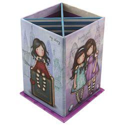 Čaša za olovke karton kvadratna sa postoljem Friends Walk Together Gorjuss 404GJ04!!