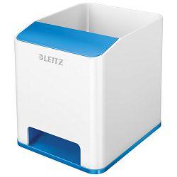 Čaša za olovke pvc četvrtasta Wow Leitz 53631036 bijela/plava