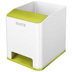 Čaša za olovke pvc četvrtasta Wow Leitz 53631064 bijela/zelena