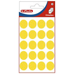Etikete slep fi-19mm pk4L Herlitz 11296738 žute blister!!