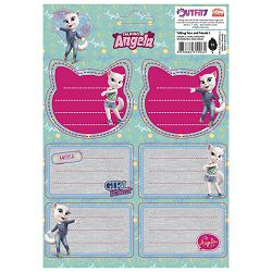 Etikete školske 3/1x6 papir Girl Power Talking Angela blister!!
