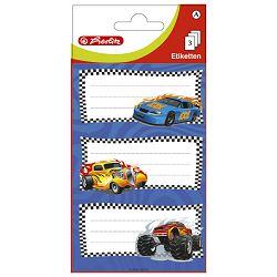 Etikete školske papir auti Herlitz 11294287 blister