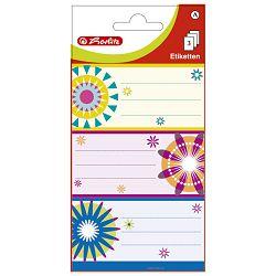 Etikete školske papir cvjetovi Herlitz 830307 blister