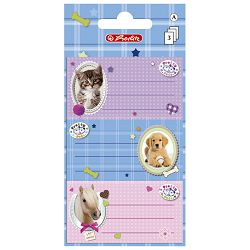 Etikete školske papir Pretty pets Herlitz 10917326 blister