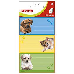 Etikete školske papir psi/mačke Herlitz 830216 blister