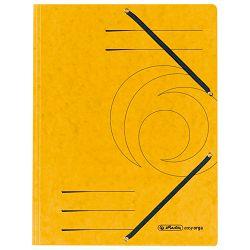 Fascikl klapa s gumicom karton A4 Herlitz 10843886 žuti