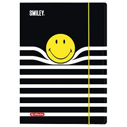 Fascikl klapa s gumicom karton A4 Smiley Black&Yellow Stripes Herlitz 50016068
