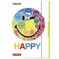 Fascikl klapa s gumicom karton A4 Smiley Rainbow Herlitz 50001675