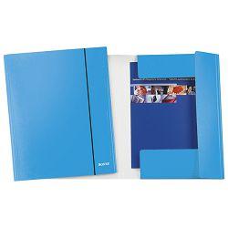Fascikl klapa s gumicom karton A4 Wow Leitz 39830036 metalik svijetlo plavi