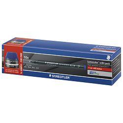 Marker permanentni 0,6mm+tinta Lumocolor Staedtler 318-3C10P plavi