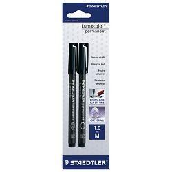 Marker permanentni 1mm pk2 Lumocolor Staedtler 317-9BK2DA crni blister