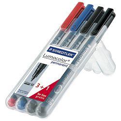 Marker permanentni 1mm Lumocolor Staedtler 3boje 317WP4P - 3+1 GRATIS