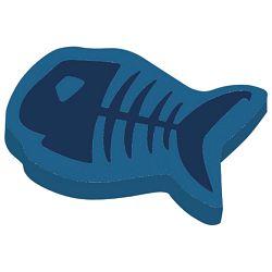 Gumica plastična Fishbone Herlitz 10364024 plava blister!!