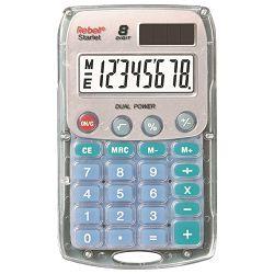 Kalkulator komercijalni  8mjesta Rebell Starlet Sharp prozirni!!