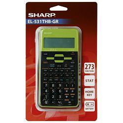 Kalkulator tehnički 10+2mjesta 273 funkcije Sharp EL-531TXHBGR zeleni blister