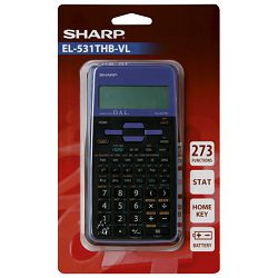 Kalkulator tehnički 10+2mjesta 273 funkcije Sharp EL-531TXHBVL ljubičasti blister