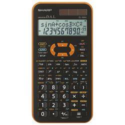 Kalkulator tehnički 10+2mjesta 462 funkcije Sharp EL-506 XYR narančasti!!