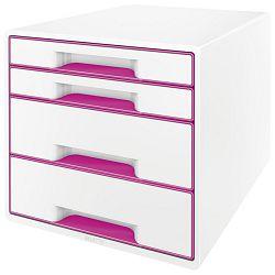 Kutija s  4 ladice Wow Cube Leitz 52130023 roza