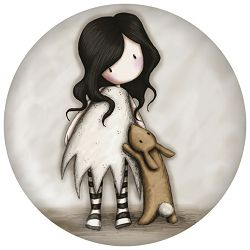 Magnet 5,8x0,5cm okrugli I Love You Little Rabbit Gorjuss 294GJ09
