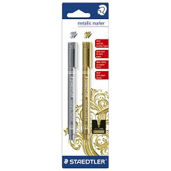Marker permanentni 1-2mm Metallic Staedtler 8323-S BK2 blister