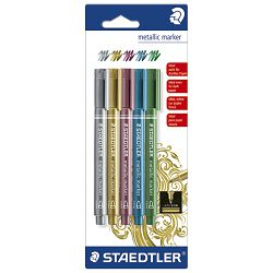 Marker permanentni 1-2mm Metallic Staedtler 8323-S BK5 blister