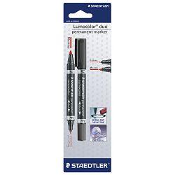 Marker permanentni duo 0,6 i 1,5mm Lumocolor Staedtler 348 crni blister