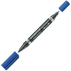 Marker permanentni duo 0,6 i 1,5mm Lumocolor Staedtler 348 plavi