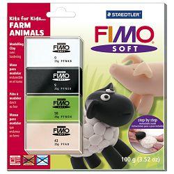 Masa za modeliranje   25gx4boje Farm Animals Staedtler 8024 33!!