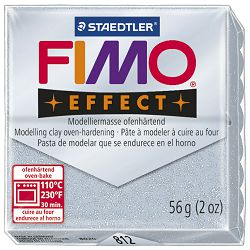 Masa za modeliranje   56g Fimo Effect Staedtler 8020-812 glitter srebrna