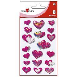 Naljepnice dječje 3D srca Herlitz 11311750 blister!!