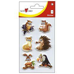 Naljepnice dječje 3D životinje1 shake Herlitz 11258548 blister!!