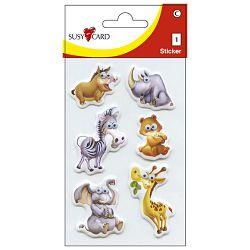 Naljepnice dječje 3D životinje2 shake Herlitz 11258555 blister!!