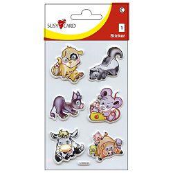 Naljepnice dječje 3D životinje3 shake Herlitz 11258563 blister!!