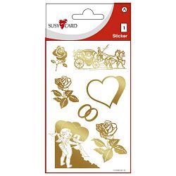 Naljepnice ukrasne-folija vjenčanje Herlitz 11260064 zlatne blister!!