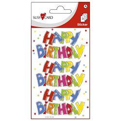 Naljepnice ukrasne happy birthday slova Herlitz 11259777 blister!!