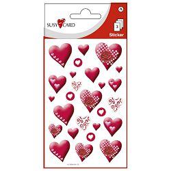 Naljepnice ukrasne srca Herlitz 11259280 crvena blister!!