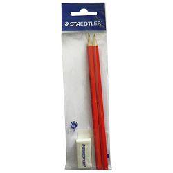 Olovka grafitna HB Minerva+gumica pk2 Staedtler 130 60-2BG blister