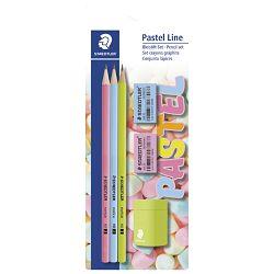 Olovka grafitna HB pk3+gumica pk2+šiljilo Pastel Line Staedtler 13043SBKP1