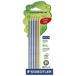 Olovka grafitna HB Wopex pk3+2 olovke gratis Staedtler 180SPBK5GB blister!!