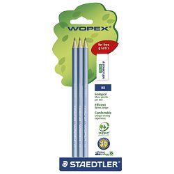 Olovka grafitna HB Wopex pk3+gumica gratis Staedtler 180SPBK3GB blister!!