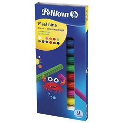 Plastelin 12boja 120g karton Pelikan 602327