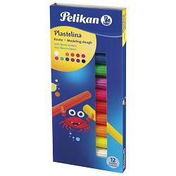 Plastelin 12boja 120g karton Pelikan 602334 neon
