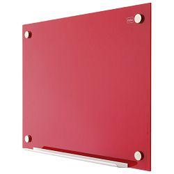 Ploča magnetna  90x60cm staklena Nobo 1903843 crvena