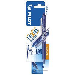 Roler gel 0,7mm Frixion clicker Pilot BLRT-FR7-L plavi blister