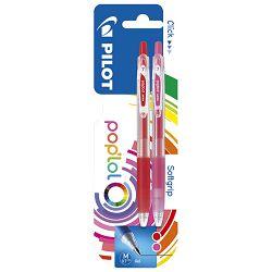 Roler gel 0,7mm Pop`Lol pk2 Pilot crveno/rozi blister
