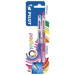 Roler gel 0,7mm Pop`Lol pk2 Pilot ljubičasto/rozi blister