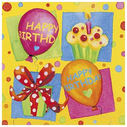 Salvete troslojne 33x33cm pk20 Birthday Party Herlitz 11095130