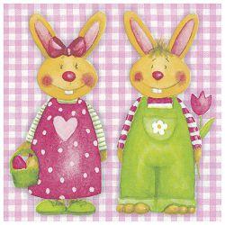 Salvete troslojne 33x33cm pk20 Bunny Couple Herlitz 11341203