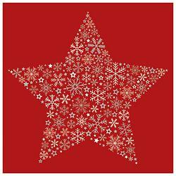 Salvete troslojne 33x33cm pk20 Frozen star red Herlitz 40003276